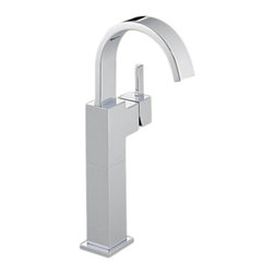 Delta - Delta 753LF Vero Single Handle Centerset Lavatory Faucet with Riser (Chrome) - Delta 753LF Vero Collection is inspired by the graceful and slim lines of a ribbon adding a high-end and modern look. The Delta 753LF is a One Handle Lavatory Faucet in Chrome.