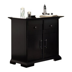 Broyhill - Broyhill Perspectives 1 Drawer 2 Door Night Stand in Graphite Finish - Broyhill - Nightstands - 4444292 - About This Product: