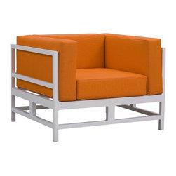 Zuo Swordfish Outdoor Lounge Chair, Orange - Zuo Swordfish Outdoor Lounge Chair
