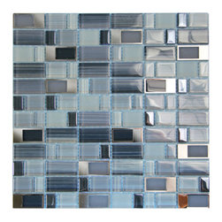 Bangles (Belltown) Glass With Metal Mosaic Tile - Bangles (Belltown) Glass With Metal Mosaic Tile - 12 in x 12 in