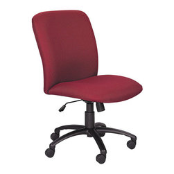 Safco - Safco Uber Big and Tall High Back Task Chair in Burgundy - Safco - Office Chairs - 3490BG - This high back office task chair is designed to comfortably seat taller and larger individuals with a heightened back panel and broader seat in addition to standard adjustment options. Auto seat height adjustment and tilt tension and lock control make finding your seating preference easy, and a 5-wheel caster base provides ease of movement. The Uber also features durable and stain resistant polyester upholstery to round out its appeal.