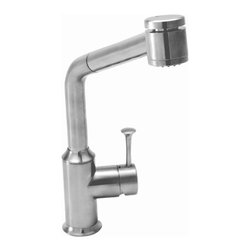 """American Standard - American Standard 4332.100 Pekoe Pullout Kitchen Faucet - Product Features:  Fully covered under American Standard's limited lifetime faucet warranty Forged from the highest quality brass alloy Superior finishing process - finishes are covered under limited lifetime warranty Engineered to look beautiful and function flawlessly With a drip-free performance this faucet is built to last Insulated pullout spray faucet head with 48"""" hose Multi-function spray / stream spray wand - top-mounted push-button (top of spray head) Smooth single handle operation Spout swivels 360 degrees to allow for unobstructed sink access High-arch gooseneck spout further allows for unobstructed sink access ADA compliant Low lead compliant - complies with federal and state regulations for lead content Designed to easily connect to standard U.S. plumbing supply bibs Ultra secure mounting assembly All necessary mounting hardware included  Product Technologies:  Lifetime Warranty: As an American company, American Standard faucets are built tough. Their products live longer in one place than most people do. Drip-free ceramic disc valves, high-grade lead-free brass alloys, and stainless steel drain cables name just a few of the features which make American Standard bathroom faucets the industry's longest lasting. To back this up, all American Standard faucets are covered under a lifetime warranty. Indestructible Finishes: Through employing only the best finishing practices, such as physical vapor deposition, American Standard faucet finishes are some of the strongest in the industry. When the finish is actually incorporated into the faucet, rather than a coating on the outside, the result is a flawless appearance that eliminates tarnishing, pitting, and peeling while hiding scratches. For this reason, American Standard faucet finishes are fully covered under the lifetime warranty.  Product Specifications:  Overall Height: 12-3/4"""" (measured from counter top to highest point of fa"""