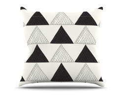"""Kess InHouse - Laurie Baars """"Textured Triangles"""" Geometric Abstract Throw Pillow (Outdoor, 18"""" - Decorate your backyard, patio or even take it on a picnic with the Kess Inhouse outdoor throw pillow! Complete your backyard by adding unique artwork, patterns, illustrations and colors! Be the envy of your neighbors and friends with this long lasting outdoor artistic and innovative pillow. These pillows are printed on both sides for added pizzazz!"""