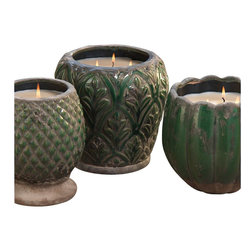 Zodax - Zodax Monceau Terracotta Scented Candle Jar - Zodax - Candle Holders / Lanterns - IG2057 - Monceau Terracotta Scented Candle Jar