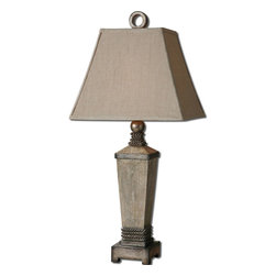 Uttermost - Uttermost 26439 Gilman Aged Ivory Table Lamp - Uttermost 26439 Gilman Aged Ivory Table Lamp