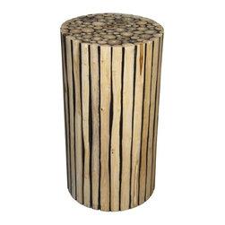 NOIR - NOIR Furniture - Tronco Side Table, A - GTAB635, Side Table A - Features: