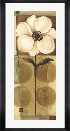 "Great Art Now - 60's Blooms 4 detail by Lisa Audit Framed Art , Size 19.5 X 37.5 - 60's Blooms 4 detail by Lisa Audit is a high quality piece of framed artwork. The finished size of this piece is 19.5"" X 37.5"". It has a Black Stepped Front frame, is single matted and finished with high quality Acrylic Plexiglass. Hand made in the USA. 100% Satisfaction Guaranteed."