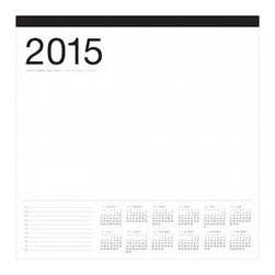 Russell + Hazel - 2015 Smart Deck Desk Calendar - by Russell + Hazel - Its a love of aesthetics that sets russell+hazel apart from its competitors. The company creates objects for the office that show a pleasantly surprising attention to design - from color choice to form and, of course, material. The 2015 SmartDeck with a year at a glimpse on each page. Printed on bright white paper, and oversized for the big jobs.