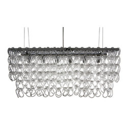 Nuevo Living - Jayden Pendant Lamp, Small - A crystal chandelier unlike any you have ever seen! Hundreds of crystal hooks are attached to a chrome frame to create a truly modern lighting piece. Pick from a small or large size to fit the room of your choice and watch as the light dances from hook to hook.