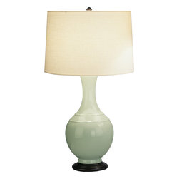Robert Abbey - Edgar Table Lamp - Dress up your favorite accent table with this super chic table lamp. Incredibly stylish and functional, it's got an intriguing base and a full-range dimmer that lets you take control of your ambience.