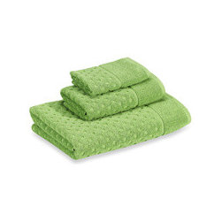 kate spade new york Larabee Dot Bath Towels, Kiwi - The dot pattern on these Kate Spade towels is adorable. The fresh green will add a splash of Irish spring to your bathroom.