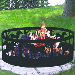 CobraCo Horse Campfire Ring - Wherever your horse takes you, it's easy to set up a safe campfire with the CobraCo Horse Campfire Ring. This easy travel fire ring breaks down into 4 next parts that are easy to pack and carry, and just as easy to put back together when you settle on a campsite. Built of steel with a cool cutout horse design, this fire pit is built to last through travel and weather.About Woodstream and CobraCoA privately held company with a long-standing positive reputation, Woodstream is a global manufacturer and marketer of quality products from pets and wildlife control, and home and garden products, to bird feeders and garden decor. They have a 150-year history of excellence, growth, and innovation, and have built a strong presence in key markets through organic growth and strategic acquisitions.Most recently, Woodstream acquired CobraCo, which offers an extensive line of planters, baskets, flower boxes, and accessories. The growth of Woodstream is thanks to their customer-driven approach to product development, a dedicated design organization that focuses on innovation, quality, and safety, as well as a commitment to an industry-leading level of service.