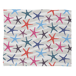 DENY Designs - Zoe Wodarz Star Fish Fleece Throw Blanket - This DENY fleece throw blanket may be the softest blanket ever! And we're not being overly dramatic here. In addition to being incredibly snuggly with it's plush fleece material, it's maching washable with no image fading. Plus, it comes in three different sizes: 80x60 (big enough for two), 60x50 (the fan favorite) and the 40x30. With all of these great features, we've found the perfect fleece blanket and an original gift! Full color front with white back. Custom printed in the USA for every order.