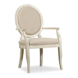 Hooker Furniture - Sunset Point Upholstered Chair - Set of 2 - Arm - White glove, in-home delivery!  For this item, additional shipping fee will apply.  A dash of chic, an air of sophistication and a splash of color make Sunset Point as stunning as it is unforgettable.  Sweeping scale and soft organic cathedral white oak veneers come together in a casual cottage waterside furniture collection that is equally at home for lakeside or seaside.  Hatteras White finish.  Upholstered back and seat.  Set of 2 chairs.