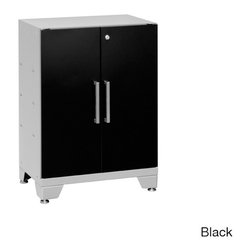 Newage Products - NewAge Products Performance Series 2-door Base Cabinet - The Performance Series is delivered to your home,cabinet boxes assembled,and designed to stay resilient within the hardest of environments. Sleek lines and a tank like finish almost come secondary to the amount of storage space available.