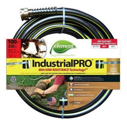 """Swan Products - Colorite/Swan Element Industrial Pro Hose - Colorite Element ELIH58100 Industrial/Home 5/8-""""-by-100-Foot Garden Hose - lead free, kink free, phthalate safe, drinking water safe with high performance lead free brass couplings and a high 500psi burst strength. 5/8-"""" diameter x 100-foot length - Brown/Green"""