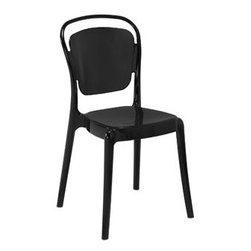 "LexMod - Entreat Dining Side Chair in Black - Entreat Dining Side Chair in Black - A sprawling minimalist design makes the Entreat dining chair a uniquely elegant choice. Made of durable and strong polycarbonate plastic, Entreat is an uncomplicated piece intended to serve as the backdrop to your life activities. The silhouette back design casts an intriguing shadow on your surroundings, while fully enlightening your eating engagements with a simple light-filled decor. Set Includes: One - Entreat Dining Chair Modern dining chair, Durable polycarbonate, Easy wipe clean surface, Fully stackable, Fully assembled Overall Product Dimensions: 18""L x 20.5""W x 34.5""H Seat Dimensions: 15.5""L x 18""HBACKrest Height: 17.5""H - Mid Century Modern Furniture."