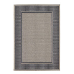 COURISTAN INC - Tides Astoria Charcoal Grey Rug (7'10 x 10'10) - This beautiful rug is designed to transform favorite outdoor living spaces into welcoming relaxation spots. Fashioned in a soothing grey palette, this tastefully simple rug can complement virtually any style of decor.