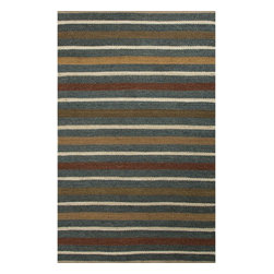 Jaipur Rugs - Jaipur Rugs Naturals Tetured Hemp Blue/Red Area Rug, 4 x 6ft - Natural hemp rugs and constructed to last. Striped colors add interest to any room.