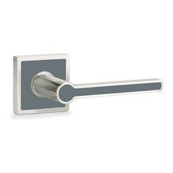 Emtek - EMTEK Cayman Door Lever, Graphite Gray, Privacy - Emtek Cayman Door Lever Contemporpary Color Collection