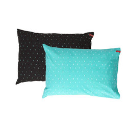 SWENYO - Black and Teal Triangle Pillow Case Set - Same is lame. Our unique pillowcases will add color and personality to any space. Hand-selected by our team of designers, this contrasting pillowcase set has vibrant colors and an incredibly soft feel finished with our signature red SWENYO tag.