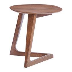 Park West Side Table - Wood Veneer, MDF & Rubberwood.