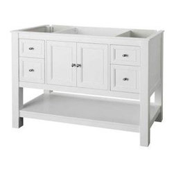 Foremost - Foremost Gazette 48 Vanity Cabinet Only, White (FMGAWA4822D) - Foremost FMGAWA4822D Gazette 48 in. Vanity Cabinet Only, White