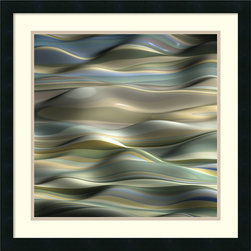 Amanti Art - J.P. Clive 'Undulation 5' Framed Art Print 24 x 24-inch - Add dynamic energy and movement into your decor with this hypnotic work, Undulation 5 by J.P. Clive.