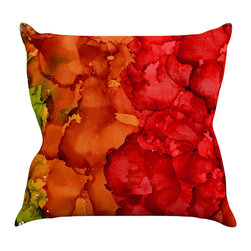 """Kess InHouse - Claire Day """"Fall Splatter"""" Throw Pillow (26"""" x 26"""") - Rest among the art you love. Transform your hang out room into a hip gallery, that's also comfortable. With this pillow you can create an environment that reflects your unique style. It's amazing what a throw pillow can do to complete a room. (Kess InHouse is not responsible for pillow fighting that may occur as the result of creative stimulation)."""