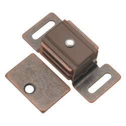Hickory Hardware - Statuary Bronze Double Magnetic Catch - Functionalism is the principal that design is based on the purpose of that piece. Hinges, hooks, catches, drawer slides and screws. All designed for a specific purpose and necessary in every home.