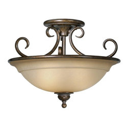 Vaxcel Lighting - Vaxcel Lighting OM-CFU160RZ Nice / Omni Traditional Semi-Flush Mount Ceiling Lig - Stately elegance embodied by generous curves and a rich oil brushed bronze finish.