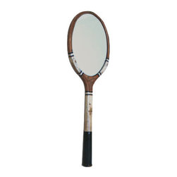 PinkPianos - Oval Tennis Racket Mirror, The University Model - These mirrors are new fun renewed vintage design made from classic vintage tennis rackets with oval mirrors. I appreciate minimal and modern design and I think this mirror marries the past and the present in an interesting way.