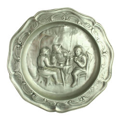 EuroLux Home - Consigned Vintage Belgian Pewter Plate Charger Tavern - Product Details