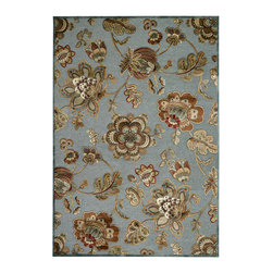 """Couristan - Cire` Retro Poppy Rug 1355/5251 - 2'1"""" x 3'7"""" - True works of art for your floor, these area rugs are designed to adorn traditional stylings, as well as contemporary. Use a secondary color found in the palette of the area rug as inspiration for wall paint and add throw pillows with similar textures, to add a designer flair."""