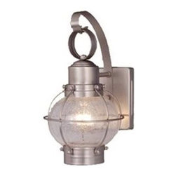 Vaxcel Lighting - Vaxcel Lighting OW21861BN Nautical Traditional Outdoor Wall Sconce - Vaxcel Lighting OW21861BN Nautical Traditional Outdoor Wall Sconce