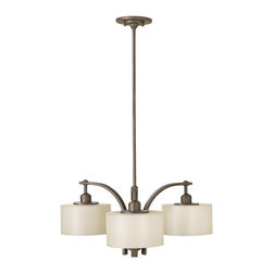 Murray Feiss - Murray Feiss Sunset Drive 1 Tier Chandelier in Corthian Bronze - Shown in picture: Sunset Drive 3 Light Chandelier in Corinthian Bronze finish with Pearl Glass Shades