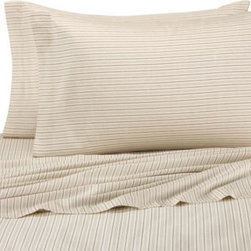 Tommy Bahama - Tommy Bahama Home Bahamian Breeze Sheet Set - Update your room in classic Tommy Bahama style with this Bahamian Breeze sheet set, boasting a smart stripe design in calming ivory and tan hues. A perfect coordinate to the Bahamian Breeze bedding.