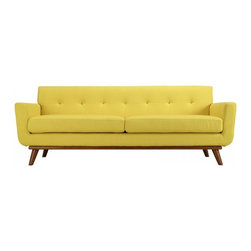 Modway Imports - Modway EEI-1180-SUN Engage Upholstered Sofa In Sunny - Modway EEI-1180-SUN Engage Upholstered Sofa In Sunny