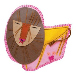 Kid Made Modern Creature Cushion Kit, Lion - Todd Oldham's line of craft projects at Target includes this sew-your-own lion pillow. Isn't he grand?