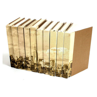 Image Collection Books   - New York City Skyline - Set of 10 - Let iconic urban visuals make their mark on your interior design with the Image Collection New York City Skyline books.  Authentic vintage volumes are re-bound with expertly printed parchment-paper spines so that, when placed together, the ten recreated novels form an iconic image of one of the Americas' most famous centers of history and industry.