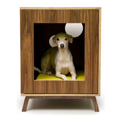 Midcentury Modern Doghouse/Side Table by Modernist Cat - This midcentury-style cabinet would match perfectly with my decor.