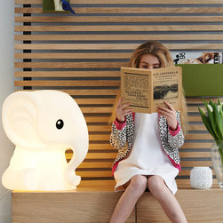 Mr Maria - Anana lamp - A modern designer lamp for kids. LED powered, made of durable polyethylene and equipped with a dimmer. This minimalist designer lamp will fit well into any modern contemporary space.