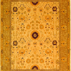 Safavieh - Safavieh Anatolia AN550A, Sand, 6'x9' Rug - Anatolia Collection brings old world sophistication and quality in new tufted rugs. This collection captures the authentic look and feel of the decorative rugs made in the late 19th century in this region. Hand spun wool and an ancient pot dying technique together with a densely woven thick pile, gives Anatolia rugs their authentic finish.