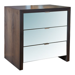 Eva Side Table - Small - Great for small spaces, the Eva side table provides mirrored storage that amplifies the light in any space. Made in the USA.