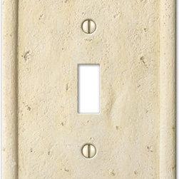 Textured Stone Ivory Wallplates -
