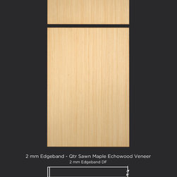 Quarter Sawn Maple Echowood Slab Veneer Cabinet Door Style - Maple ...