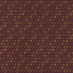 Purple and Gold Geometric Circles Durable Upholstery Fabric By The Yard - P7535 is great for residential, commercial, automotive and hospitality applications. This contract grade fabric is Teflon coated for superior stain resistance, and is very easy to clean and maintain. This material is perfect for restaurants, offices, residential uses, and automotive upholstery.