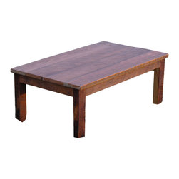 The Rusted Nail LLC - Coffee Table - Need a coffee table with character? You'll admire the simple beauty of classic lines that show off the vintage wood, which even has generations-old saw marks. If you're looking for a specific size, custom sizes are available, too.