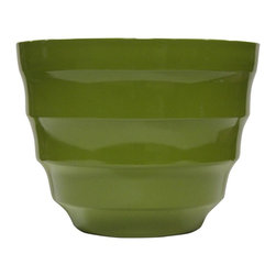 Alpine Fountains - Small 12 in. Rippled Planter in Light Green - Made of Plastic. 1 Year Limited Warranty. Assembly Required. Overall Dimensions: 12 in. L x 12 in. W x 9 in. H (1.87 lbs)These rippled bowl planters are perfect for patios and decks.  Available in a variety of sizes and colors they can meet any need, or taste and are very durable.