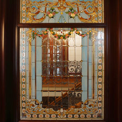 eclectic windows by Casa Loma Doors & Art glass